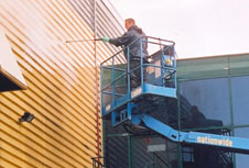 High level building cleaning cladding refurbishment